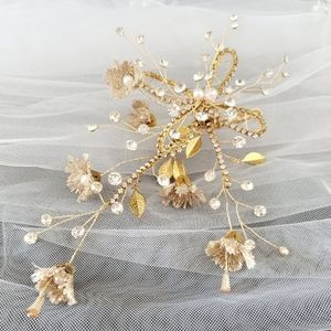 Bride Bridal Gold Hairpiece Large Headpiece Gift
